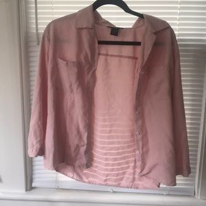 Anne Carson 100% Silk Button Up